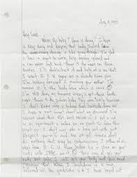 Letter To Desiree Smith August 05 1995 Tupac's Handwritten Letter