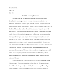stereotypes essay stereotype essays