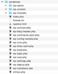 Die wichtigsten Verzeichnisse Dateien von WordPress kurz erklärt ...