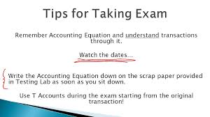 remember accounting equation and understand transactions through it