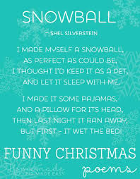 funny christmas poems short list of