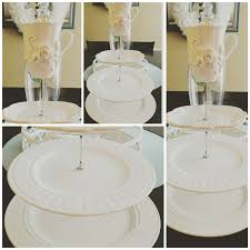 this adorable tier cake stand is perfect for your next party a beautiful way to display your food at a tea party or any event