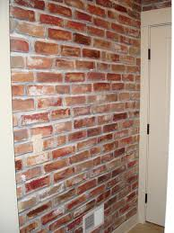 Traditional Home Decoration with Red Color Faux Brick Walls, Original  Classic Brick Wall Color,