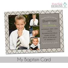 baptism card template my baptism card custom photo invitation announcement template lds