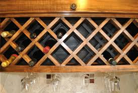 Under Cabinet Wine Racks Hand Crafted Custom Wine Rack By Noble Brothers Custom Furniture