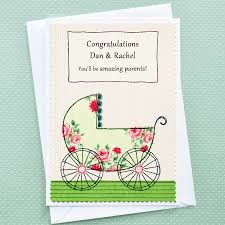 baby congratulations cards pram personalised pregnancy congratulations card by jenny arnott