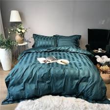 100s luxury sateen quilt cover set 100 cotton bedding 5cm satin stripe quilt covers tribute silk bed linen queen king bedding sheets queen duvet cover