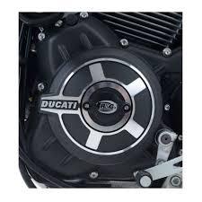 engine case slider left ducati scrambler rg racing