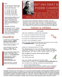 brazos valley african american museum mlk essay poster contest flyer