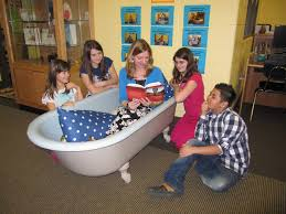 Here's another way to go with the whole Reading in the Tub thing!