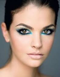 makeup once a staple of the 80s blue eye liner is now a hot make