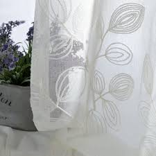 aliexpress com high grade embroidered sheer curtains cotton past bedroom curtains customized gauze white sheer curtains for living room from