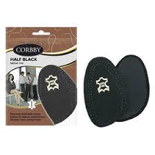 <b>Полустельки</b> для обуви <b>Corbby Half</b> black, чёрные, размер 35-36 ...
