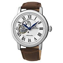 automatic or self winding men s watches john lewis buy seiko men s mechanical skeleton leather strap watch online at johnlewis com