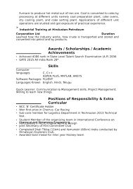 Two Types Of Resumes 32 Resume Templates For Freshers Download Free Word Format