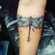 Watercolor Dragonfly Tattoo Was One Of My Favorites To Tattoo