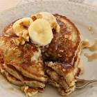 banana walnut flax pancake