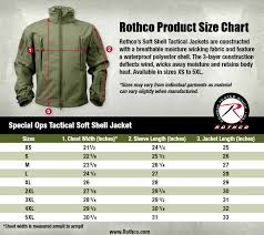Rothcos Camobloge Rothcos New Size Charts