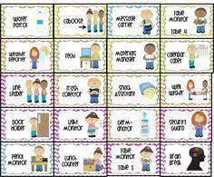Image Result For Free Printable Preschool Classroom Job