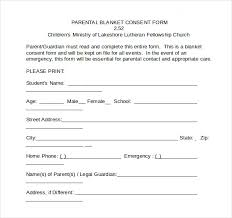 Printable Medical Release Form For Children Inspiration Child Medical Consent Form Template Alfonsovacca