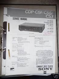 sony service manual~cdp c5f c5s c57 cd compact disc player service manual sony cdp c5f c5s c57 cd player original