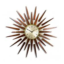 pluto starburst wall clock