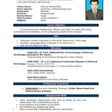 Resume Demo Word File Full Resume Format Download Full Cv In Word