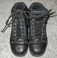 harley davidson tyler womens 10 black leather lace up motorcycle boots 84280