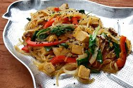 korean style tofu vegetable and noodle