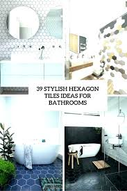 black hexagon tile bathroom 9 stylish tiles ideas for bathrooms matte with white grout black hexagon tile bathroom