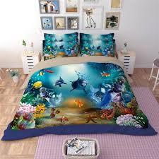 shark bedding set underwater world shark ocean fish kids bedding size fitted bed sheet shark comforter set full