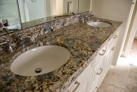 bathroom vanity granite backsplash. Photo: MGS By Design Bathroom Vanity Granite Backsplash B