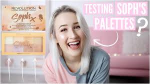 testing soph x makeup revolution palettes sophie louise