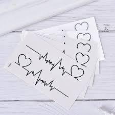 Srdce Tetování Dočasné Ekg Tattoo Produkty Vodotěsné Jednorázové Tetování Samolepka At Airyclub