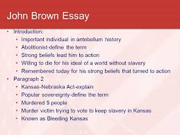 the civil war a nation divided ppt video online 21 john brown essay introduction