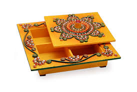 Small Picture Buy Wooden Resin Floral Dry Fruit Box Online Craftsvilla