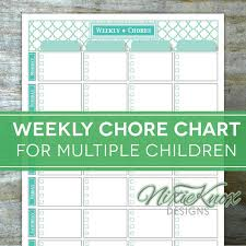 Multiple Child Chore Chart This Editable And Printable Weekly Chore Chart Is The Ticket