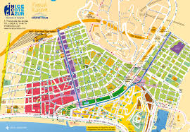 maps and brochures of nice côte d'azur