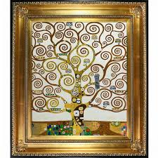 tree of life by gustav klimt framed painting on wrapped canvas