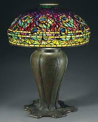 vintage lighting new york antique fixtures city studios leaded glass bronze pea lamp