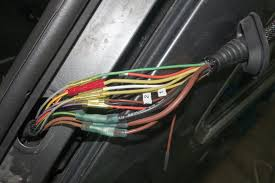"the fix it blog sorting things out bmw 535xi touring e61 pull the old harness through the hinge area cut the old harness out leaving at least 6"" of the old harness to give you space to make connections in the"
