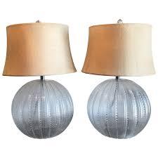 Pumpkin Glass Ball Table Lamps