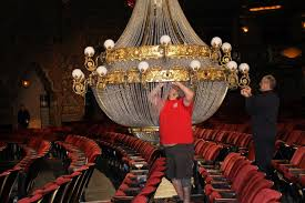 working on new chandelier from phantom