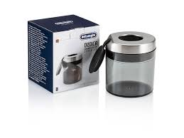 All our replacement coffee carafes are made out of glass and range in size from small 4& 5 cup universal replacement carafes to 12 cup universal coffee carafes. Coffee Canister Replacement For Dedica Burr Grinder De Longhi Us