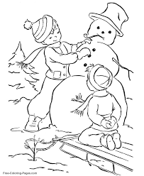 Small Picture 180 best KIds Winter Color Fun images on Pinterest Coloring