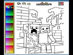 Minecraft Coloring Pages For Kids Minecraft Coloring Pages Youtube