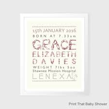 personalized baby stats print birth announcement art personalized baby gift nursery wall art printable nursery wall decor baby girl on personalized baby announcement wall art with personalized baby stats print birth announcement art