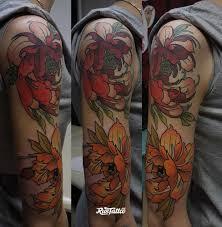 фото татуировки рукав в стиле япония татуировки на плече