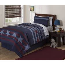 mainstays kids stars and stripes 5 piece bed in a bag bedding set com