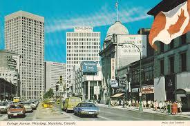 Portage Avenue , WINNIPEG , Manitoba , Canada , 60-80s / HipPostcard